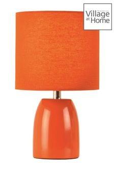 Village At Home Orange Opal Table Lamp