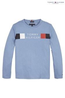 Tommy Hilfiger Blue Global Stripe Long Sleeve T-Shirt