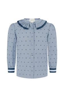 GUCCI Kids Girls Pale Blue Popeline Shirt