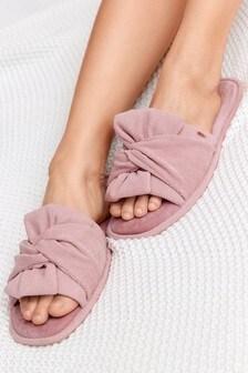 Pink Bow Slider Slippers