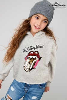 Grey Sequin Rolling Stones License Hoody (3-16yrs)