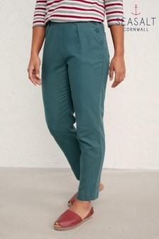 Seasalt Cornwall Green Nanterrow Trousers