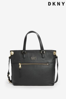 DKNY Black Gregorio Leather Tote Bag