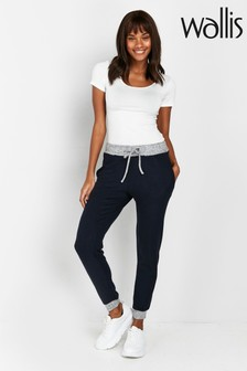 Wallis Navy Soft Touch Joggers