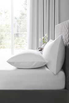 White Easy Care Polycotton Fitted Sheet