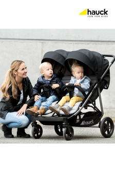Hauck Rapid 3R Duo Double Pushchair Silver/Charcoal