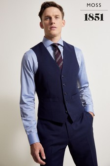 Moss 1851 Performance Tailored Fit Washable Ink Waistcoat