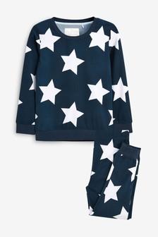 Navy Star Cosy Pyjamas (9mths-16yrs)