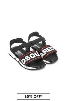 Boys Black Sandals
