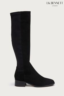 L.K.Bennett Black Bella Bella Stretch Knee Boots