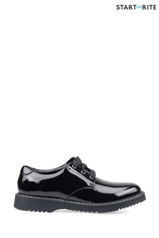 Start-Rite Impact Black Patent Wide Fit Leather Shoes