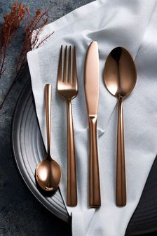 16 Piece Copper Cutlery Set