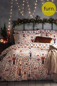 Furn Christmas Nutcracker Duvet Cover and Pillowcase Set