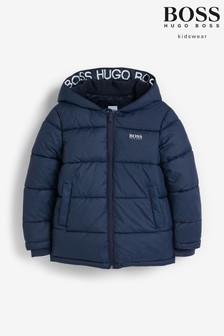 BOSS Navy Padded Jacket