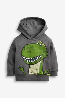 Charcoal Rex Disney™ Toy Story Jersey Hoody (3mths-8yrs)
