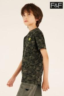 F&F Khaki Green Base Camouflage T-Shirt