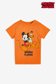 Rust Mickey Mouse™ Short Sleeve Jersey T-Shirt (3mths-8yrs)