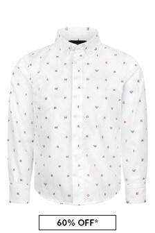 Boys Cotton Logo Shirt