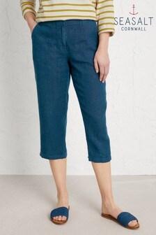 Seasalt Cornwall Blue Brawn Point Crop Trousers