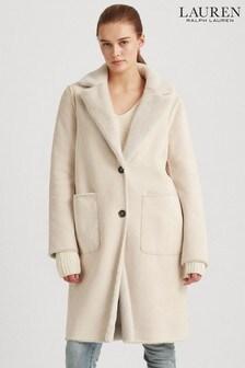 Lauren Ralph Lauren® Cream Faux Suede Reversible Jacket