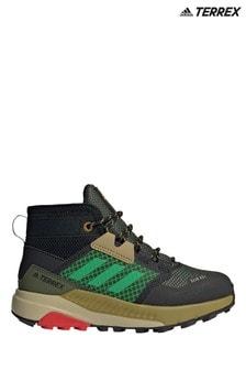 adidas Terrex Khaki Trailmaker Junior and Youth Mid Boots
