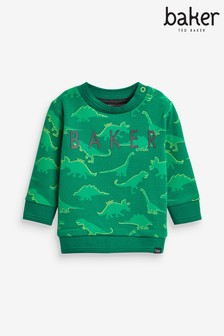 Baker by Ted Baker Green Dino Sweat Top