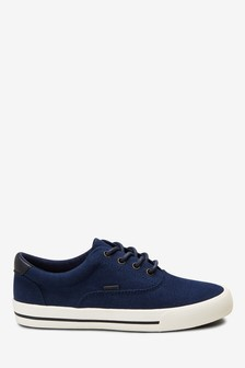 Navy Oxford Lace-Up Shoes