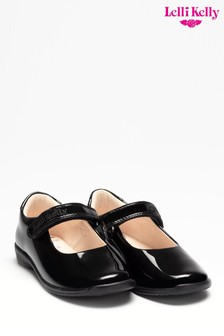 Lelli Kelly Black Patent Dolly Shoes
