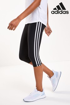 adidas 3 Stripe High Waisted 3/4 Leggings