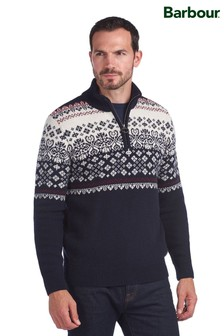 Barbour® Fairisle Half Zip Jumper