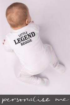 Personalised Little Legend Sleepsuit