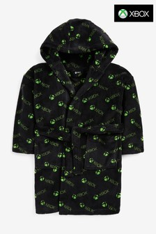 Black Xbox Soft Touch Fleece Dressing Gown (5-16yrs)
