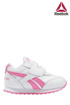 Reebok White/Pink Classic Jogger Shoes