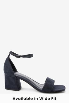 Navy Regular/Wide Fit Forever Comfort® Simple Block Heel Sandals
