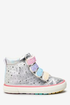 Silver Star High Top Trainers (Younger)
