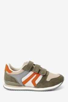 Khaki Strap Touch Fasten Trainers (Older)