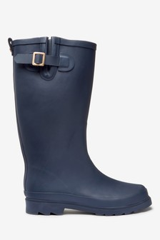 Navy Tall Wellies