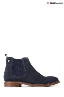 Base London® Blue Flint Suede Pull-On Chelsea Boots