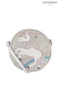 Accessorize Pink Unicorn Glitter Across Body Bag