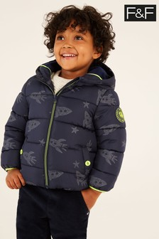 F&F Navy Navy Reflective Pocket Padded Coat