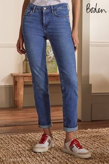 Boden Blue Slim Straight Jeans