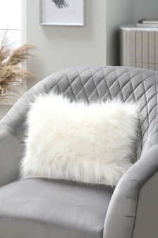 Arctic Cosy Faux Fur Rectangle Cushion