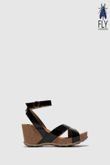 Fly London Ankle Strap High Wedge Sandals