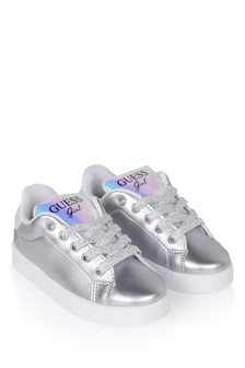 Girls Silver Branded Trainers