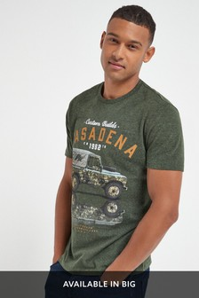 Khaki Marl Graphic T-Shirt