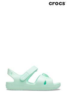Crocs™ Green Cross Strap Sandals