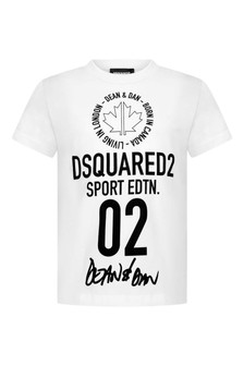Kids White Cotton Sport Edition T-Shirt