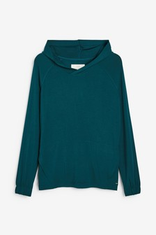 Teal Supersoft Viscose Hoody