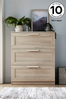 Washed Oak Effect Flynn 3 Drawer Chest