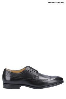 Steptronic Black Francis Derby Lace-Up Shoes